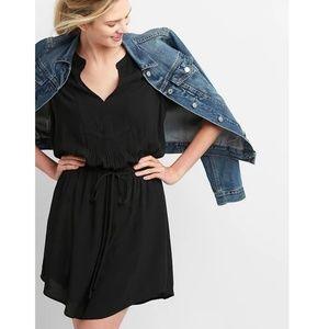 NWT Gap Tie-Waist Shirtdress MT Black v810